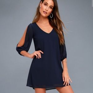 Lulu's Long Open Sleeve Dress EUC